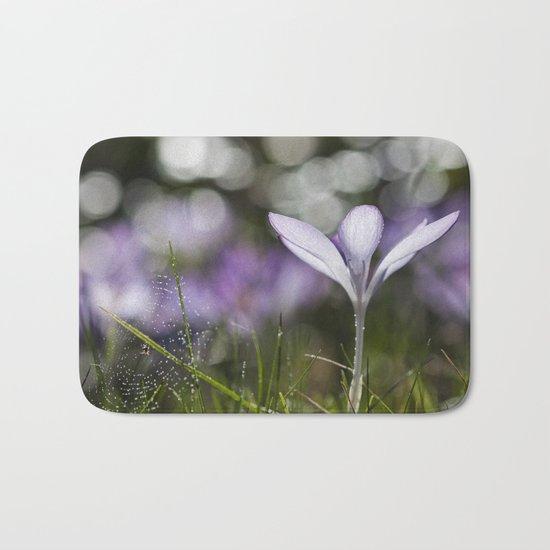Blue Spring Flower  Crocus - Floral Bath Mat