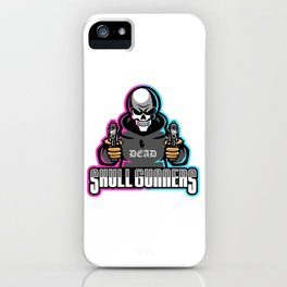 Skull Gunners Esport Mascot Logo Template iPhone Case