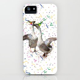 Partying Geese iPhone Case
