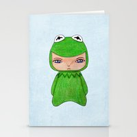 kermit Stationery Cards featuring A Boy - Kermit the frog by Christophe Chiozzi