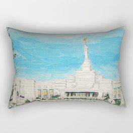 Reno Nevada LDS Temple Painting Rectangular Pillow