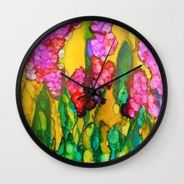 Pink Lilacs Wall Clock