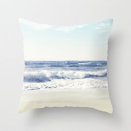 North Shore Beach Throw Pillow