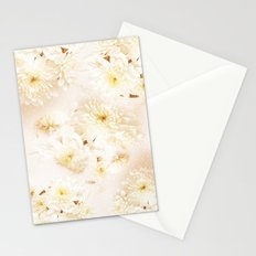 Lost in Antique White Flowers Stationery Cards