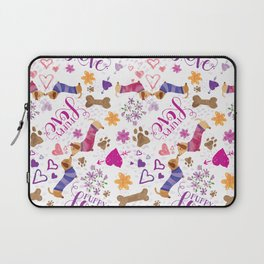 Doxie Puppy Love Pattern Laptop Sleeve