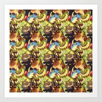 dragons Art Prints featuring Dragons! by Flora