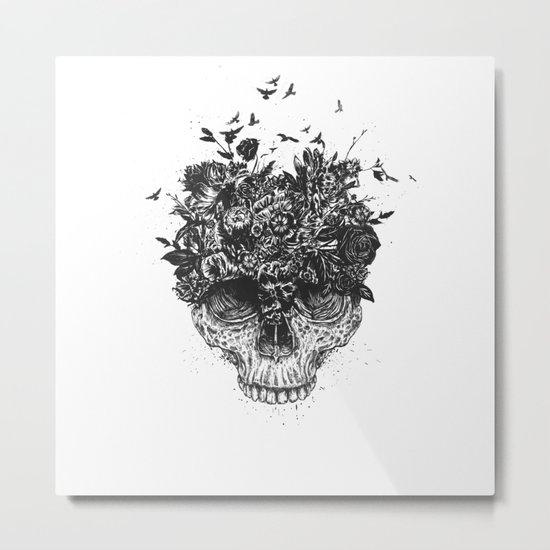 My head is a jungle (b&w) Metal Print