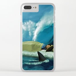 Sleeping with Sharks Clear iPhone Case