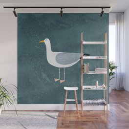 Seagull Standing Wall Mural