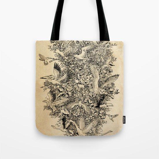 Blooming Flight Tote Bag