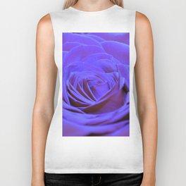 Purple Blue Rose Biker Tank