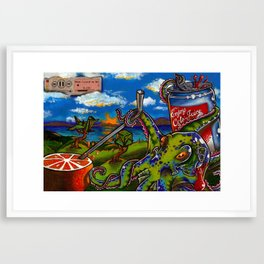 Enjoy octo_juice Framed Art Print