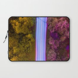the purple road in the forest Laptop Sleeve