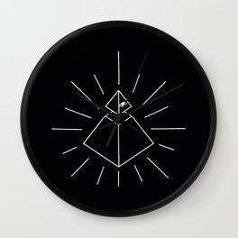 Illuminati Pyramid Eye  Wall Clock