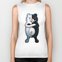 dangan ronpa Biker Tanks featuring Monobear by Prince Of Darkness