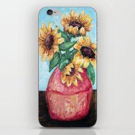 Sunflower Vase iPhone Skin