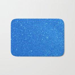 Blue Zircon December Capricorn Birthstone Shimmery Glitter Bath Mat