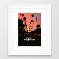 california Framed Art Prints featuring California by Tumblr Fashion