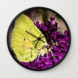 Luna Moth   Painting Wall Clock