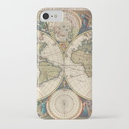 Vintage Map of The World (1690) iPhone Case