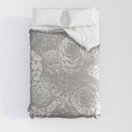 Moody Florals in Grey Comforters