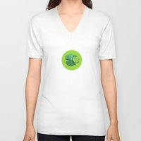 clover V-neck T-shirts featuring Clover by Mirelle Ortega