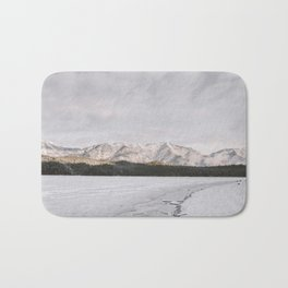 Frozen Lake Views - Landscape Photography Bath Mat
