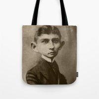 kafka Tote Bags featuring Kafka by Jason Seiler