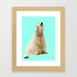 Pop Polar Bear Framed Art Print