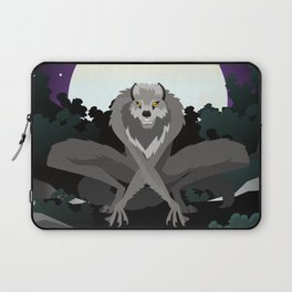 werewolf beast in the night Laptop Sleeve