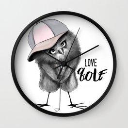 Love Golf Wall Clock