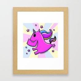 Fab-yoo-lous Unicorn! Framed Art Print