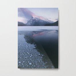 Sunset at Vermillion Lakes Metal Print