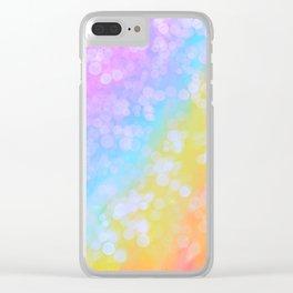 Rainbow Bubble Pop Clear iPhone Case