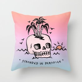 STRANDED IN PARADISE Throw Pillow