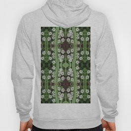 206 - Queen Anne's Lace abstract pattern Hoody