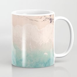 Aerial sea photography, exotic beach, fine art, wanderlust, coral reef, tropical landscape, summer Coffee Mug