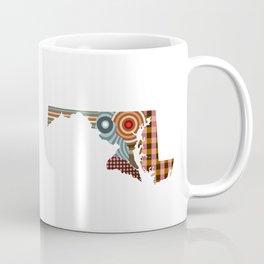 Maryland State Map Coffee Mug