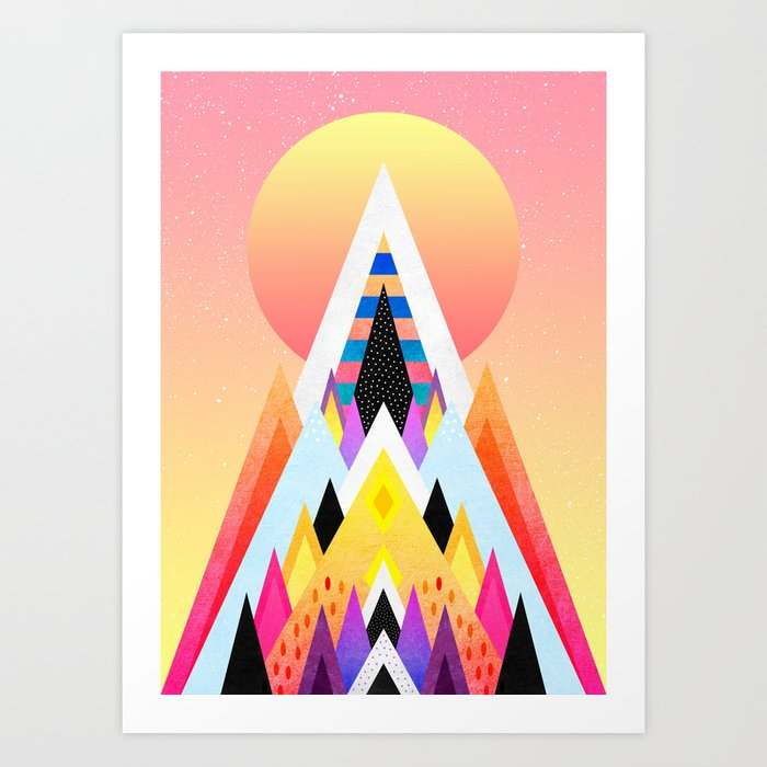 Bubblegum Mountain Art Print