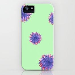 Green Purple Swirl iPhone Case