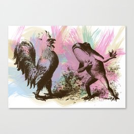 Frog and Rooster Canvas Print