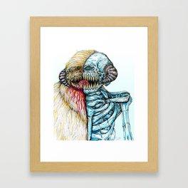 Snow Monster Half Framed Art Print
