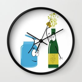 What a sparkling day! Wall Clock