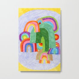 Rainbow Pileup Metal Print