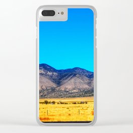 Gold Field Ocean Sky Clear iPhone Case