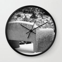 Snowy Bench Wall Clock