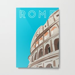 Rome, Italy Colosseum Travel Poster Metal Print