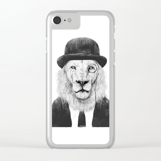 Sir lion Clear iPhone Case