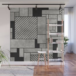 Random Concrete Pattern Wall Mural