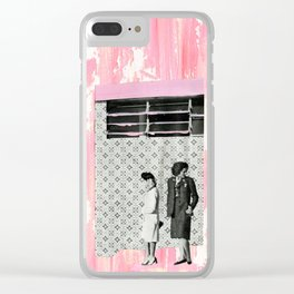 The Pink House Clear iPhone Case